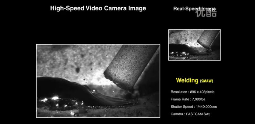高速摄影机拍摄水底焊接