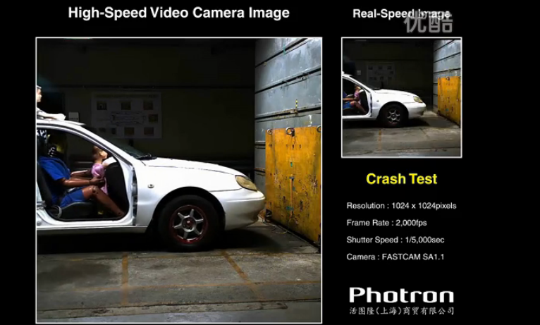 高速摄影机拍摄汽车碰撞实验
